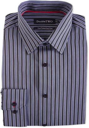 Double Two Satin Stripe Formal Shirt