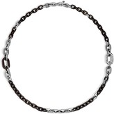 John Hardy Sterling Silver Dot Link Necklace with Ebony Wood, 36