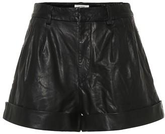 Etoile Isabel Marant Abot high-rise leather shorts