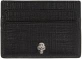 Alexander McQueen Black & Gunmetal Lino Skull Card Holder