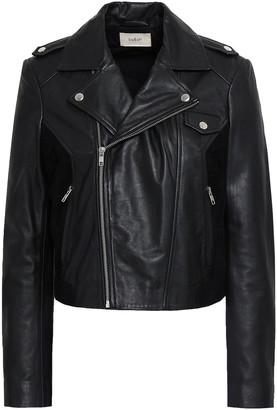 BA&SH Pacino Suede-trimmed Leather Biker Jacket