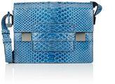 Delvaux Women's Python Madame PM Shoulder Bag-BLUE