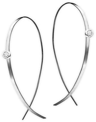 Lana Diamond & 14K White Gold Hoop Earrings