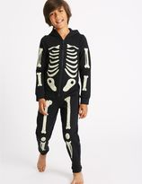 Marks and Spencer Cotton Rich Skeleton Print Onesie (1-16 Years)