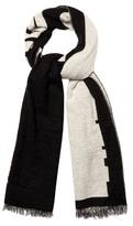 Mcq Alexander Mcqueen Logo Wool-blend Scarf