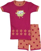 Petit Lem Owl Ballet 2 Piece Short PJ Set (Toddler/Kids) - Multicolor-2
