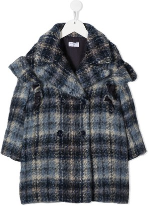 MonnaLisa Knitted Check Patterned Coat