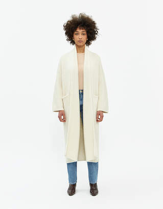 LAUREN MANOOGIAN Long Shawl Cardigan in White