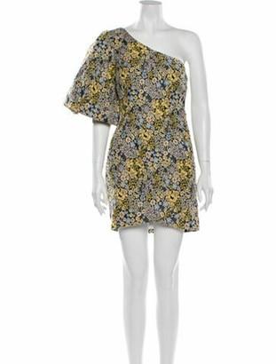 ATOIR Floral Print Mini Dress w/ Tags Yellow