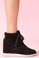 Nasty Gal Venice Wedge Sneaker - Black