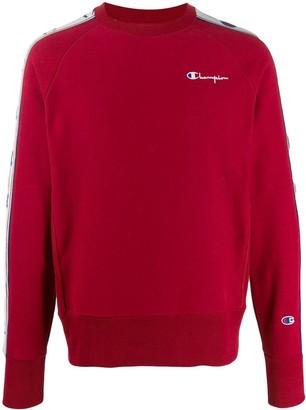 Champion logo print stripe sweatshirt