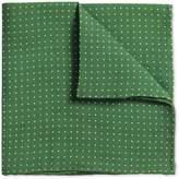 Charles Tyrwhitt Green Linen Spot Classic Pocket Square