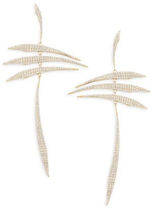 Adriana Orsini Eclectic Pave 18K Yellow Gold-Plated Sterling Silver Mobile Earrings