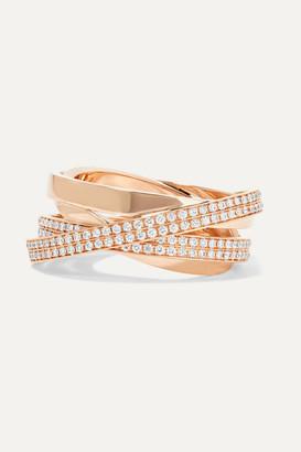 Repossi Technical Berbere 18-karat Rose Gold Diamond Ring