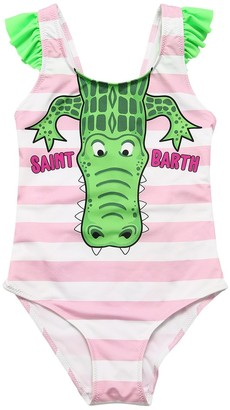 MC2 Saint Barth Alligator Print One Piece Swimsuit