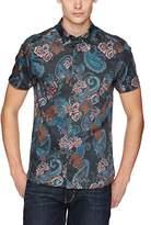 Ted Baker Men's Tyger Modern Slim Fit Ss Tiger Paisley Printed Shirt