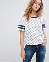 Tommy Hilfiger All Over Print T-Shirt with Tommy Heart Logo