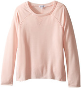 Splendid Littles French Terry with Burnout Long Sleeve Jersey Mix Top (Big Kids)