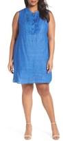 Nic+Zoe Plus Size Women's Drifty Linen Tunic Dress