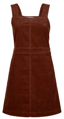 Dorothy Perkins Womens Petite Tan Square Neck Pinafore Dress