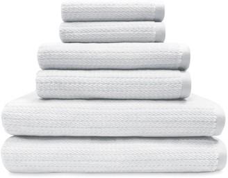 Peri 6-piece Mingled Stripe Bath Towel Set