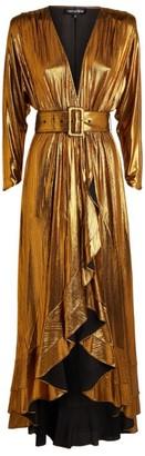 retrofete Wayne Metallic Wrap Dress