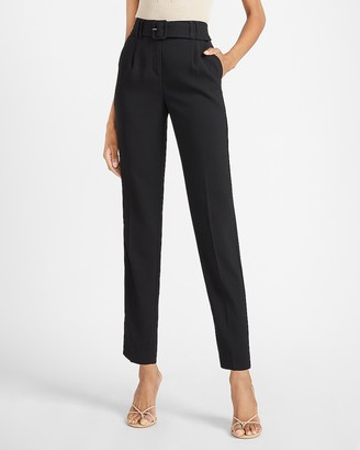 Express High Waisted Belted Ankle Pant