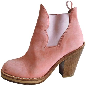 Acne Studios Star Pink Leather Ankle boots