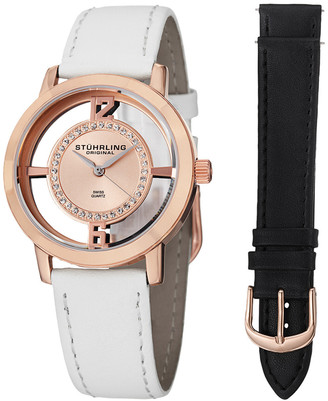Stuhrling Original Women's Winchester Tiara Watch With Interchangeable Strap