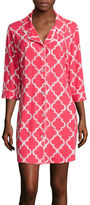 Asstd National Brand Warm Milk by BedHead Pajamas 3/4-Sleeve Button-Front Nightshirt