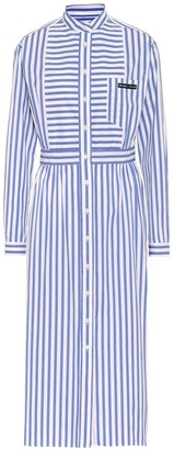 Prada Striped cotton shirt dress