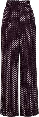 Zimmermann Polka-dot Crepe Wide-leg Pants