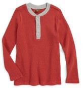 Tea Collection Thermal Henley (Toddler Boys & Little Boys)