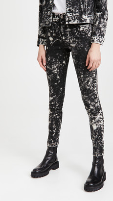 Stella McCartney High Rise Skinny Inside Out Black Galaxy Jeans