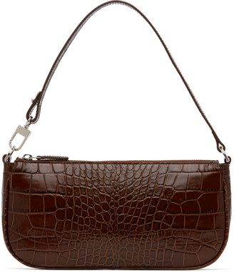 BY FAR Brown Croc Rachel Bag