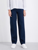 Vince Rinsed relaxed-fit denim trousers
