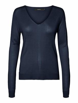 Vero Moda Women's Vmlina Ls V-Neck Blouse Boo Sweater