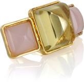 Kara by Kara Ross 14-karat gold-plated triple-stone ring