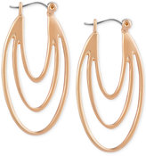 T Tahari Gold-Tone Leverback Drop Earrings