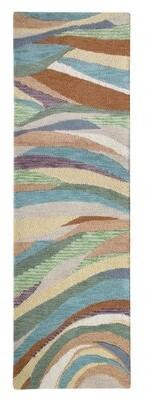 "Company C Desert Wind Paisley Handmade Tufted Wool Brown/Blue Area Rug CompanyC Rug Size: Runner 2'6"" x 8'"