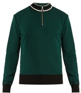 Ami Half-zip wool sweater