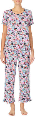 Kate Spade mini fern cropped pajama set