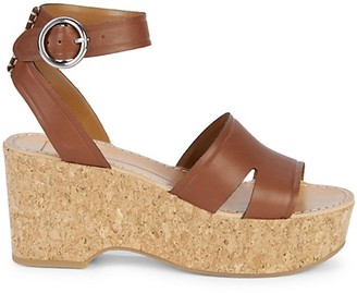 Dolce Vita Linda Leather Cork Sandals
