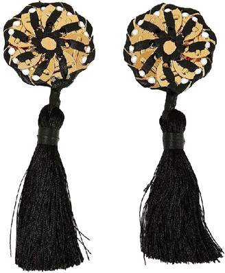 DSQUARED2 Black Leather Earrings