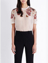 Givenchy Floral-print silk-organza t-shirt
