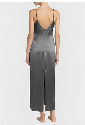 La Perla Silk Silver Silk Long Nightgown