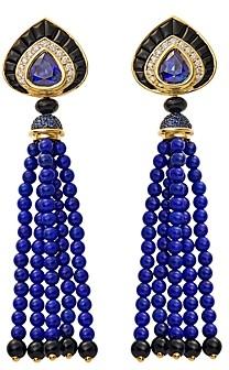 Lapis Marina B 18K Yellow Gold Saturnia Sapphire, Lazuli & Diamond Drop Earrings
