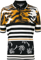 Dolce & Gabbana tiger and palm polo shirt