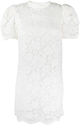 Marc Jacobs Floral Lace Mini Dress