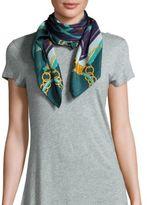 Saks Fifth Avenue Bright Print Silk Scarf